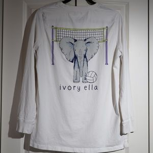 IVORY ELLA White Long Sleeve Volleyball Size XL